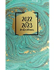 2022-2023 Pocket Planner: Two-Year Monthly Calendar Planner for Purse - 24 Months Pocket Agenda Schedule with To-do list, US Holidays & Quotes - 2-Year Pocket Planner - Stylish Mint & Gold Agate Cover