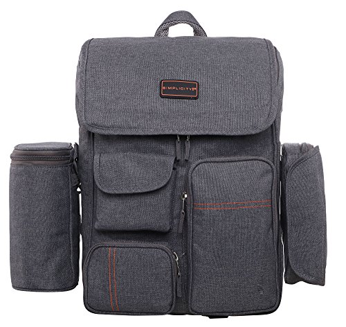 Diaper Bag Multi-Function Travel Backpack Nappy Bags W/Stroller Straps Changing Pad
