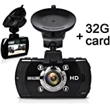 Car Dash Cam, [UPGRADED] SEYDI S4 FHD Car Dashboard Camera Cam Rcorder with 32G Card DVR 1296P Ambarella A7 LA70 with 170 Wide Angle Dashboard GPS G-Sensor WDR Superior Night Vision WDR Loop Recording