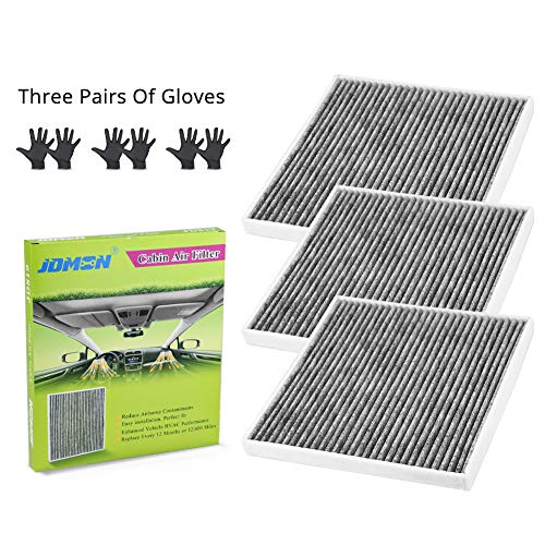 - JDMON JD819 Cabin Air Filter Replacement for Hyundai/Chevrolet/GMC/KIA/Saturn Included Premium Activated Carbon with A Pair of Gloves (3 PACK)