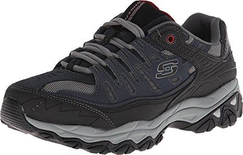 Skechers Sport Men's Afterburn Memory Foam Lace-Up Sneaker, Navy, 12 M US