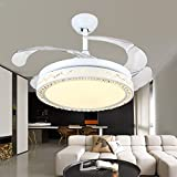 nest ceiling fan - Huston Fan 42 Inch White Decorative Ceiling Fan Bird's Nest Style Ceiling Chandelier Lighting Indoor Home Ceiling Lights Bedroom Chandelier Living Room LED Lights With Remote