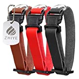 Zhiye Cat kitten Collars fit Puppy Small Cats Dogs Pets Leather Collar Breakaway Adjustable Quick Release Safety Buckle 3 Packs Medium