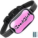 Dog Bark Collar for Small, Medium and Large Dogs Safe Vibration Training Collar! Control Your Pet Excessive Barking with This Simple Anti Bark No Shock Training Tool! (3.5+kg) (GoodGirl, Pink)