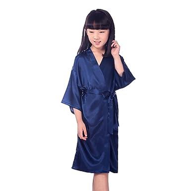 MEIHAOWEI MEIHAOWEI Kittel Dressing Satin Kimono Robe Bademantel ...