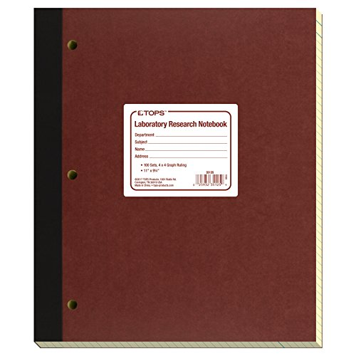 - TOPS Laboratory Research Notebook, 9.25 x 11 Inches, Carbon, 100 Numbered Sets, 100 Sheets, White and Canary (35125)