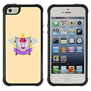 Hybrid Anti-Shock Defend Case for Apple iPhone 5 5S / Cool Axe & Shield Badge