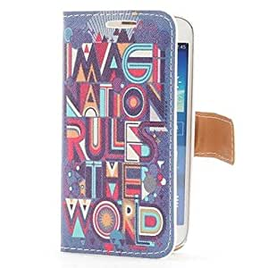 WQQ Samsung S4 Mini I9190 compatible Special Design PU Leather Back Cover/Cases with Stand