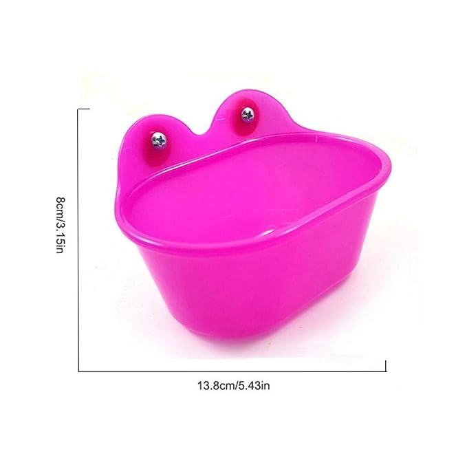 TEEPAO - Bañera para pájaros con Espejo para Jaula, bañera ...