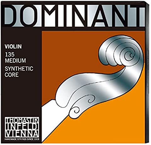 Thomastik-Infeld 135 Dominant Violin Strings, Complete Set, 135, 4/4 Size, with Aluminum Wound Ball End E (Violin Strings For 3 4)