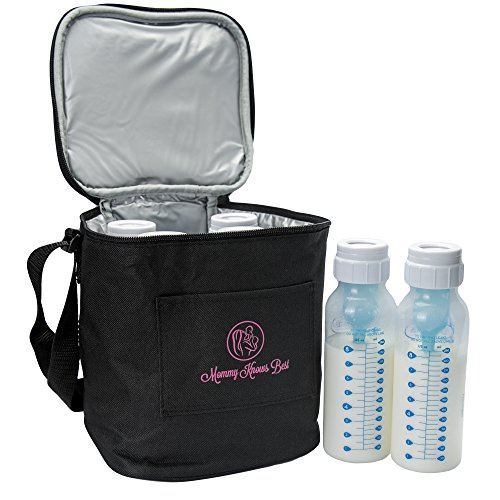 Extra Tall Breast Milk Baby Bottle Cooler Bag For Insulated Breastmilk Storage w/ Air Tight Design to Lock in the Cold & Preserve Important Nutrients for Your Baby (Fits up to 8 Oz. Bottles)