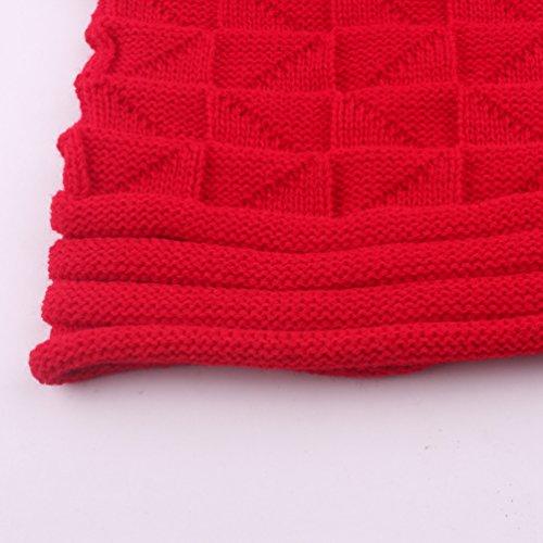 Gorra de de Beanie WanYang Unisex Grueso Sombrero esquí Rojo Cálido Punto Hiphop Beanie Invierno Hat wpYBvnY