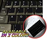 DVORAK SIMPLIFIED NON-TRANSPARENT KEYBOARD STICKERS BLACK BACKGROUND FOR DESKTOP, LAPTOP AND NOTEBOOK