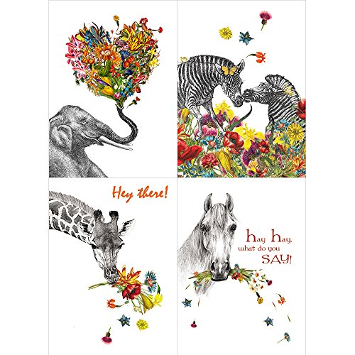 Tree-Free Greetings A Touch of Color by Zlatka Peneva All Occasion Card Assortment, 5 x 7 Inches, 8 Cards and Envelopes per Set (GA31646)