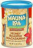 Mauna Loa Honey Roasted Macadamia Nuts, 4.5-Ounce Resealable Canisters (Pack of 24) by Mauna Loa