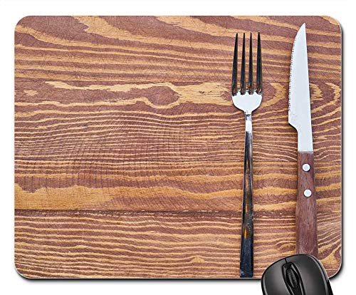 Mouse Pads - Food Fork Knife Table Plate Hunger Hungry Tok