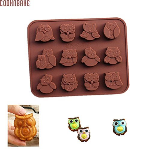 Duarable convenient Cute Kitchen Tool Silicone Chocolate Mold With 12 Hole Owl Animal Mold Tool Accessorize. by Gogil