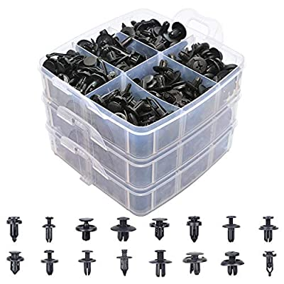 670 Pcs Auto Push Clips & Fasteners Set, Free Fastener Remover,Great Assortment of Push Type Retainers Fits For GM Ford Toyota Honda Chrysler with Plastic Storage Case: Automotive