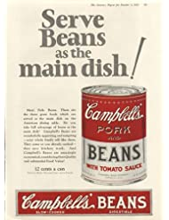 Serve as Main Dish Campbell's Pork & Beans Soup ad 1925