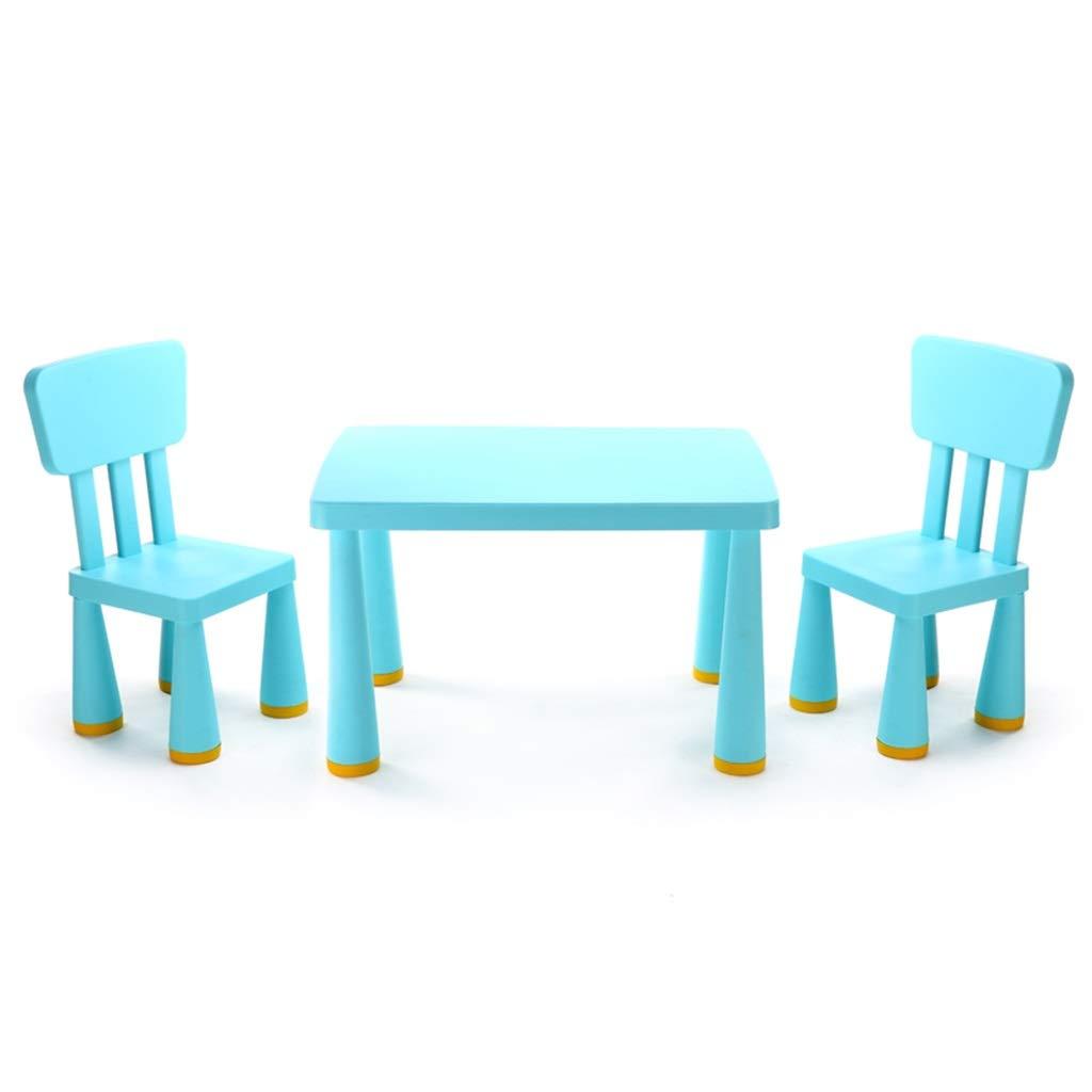 最適な価格 子供用学習テーブル幼稚園子供用テーブルチェアセット子供部屋用ホームゲームテーブルチェア耐荷重200KG (Color (Color : Blue) Blue Blue) Blue B07NJNBFR9, 【同梱不可】:cfa6b8e9 --- demo.koveru.com