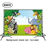 HUAYI 7x5ft Jungle safari backdrop photo background kids Photography Backdrops Photo Studio Props Children Birthday Banner Baby shower Photo booth Newborn Photography Props (xt-6521)