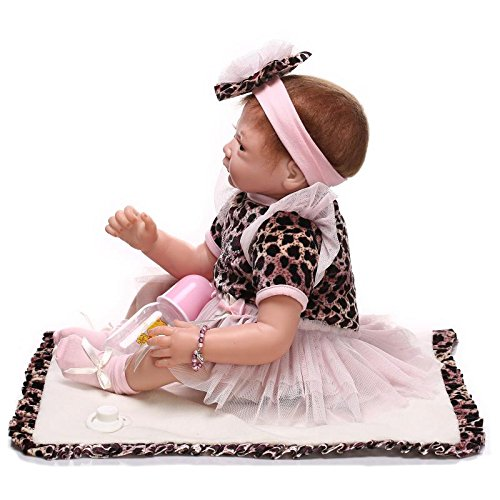 iCradle Handmade Realistic Looking Baby Girl Soft Silicone Reborn ... c9d813e848