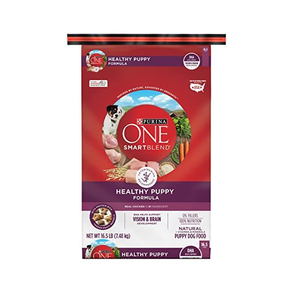 Purina ONE Natural Dry Puppy Food, SmartBlend Healthy Puppy Formula – 16.5 lb. Bag