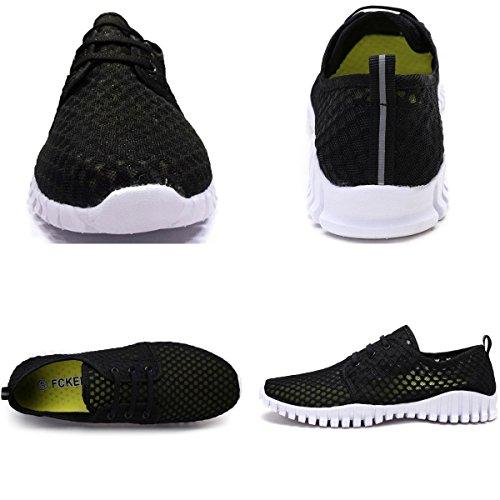 Black Women Water and Quick Drying Aqua Mesh FCKEE Shoes Men for TqvzOBfwxf