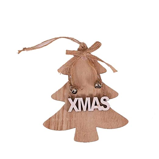 Mumuj - Colgante de Madera para árbol de Navidad, decoración ...
