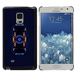 Be Good Phone Accessory // Dura Cáscara cubierta Protectora Caso Carcasa Funda de Protección para Samsung Galaxy Mega 5.8 9150 9152 // Blue Black Orange Sci-Fi Future Tech