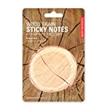 Kikkerland ST36 Wood Grain Sticky Notes