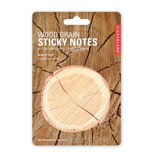 Kikkerland ST36  Wood Grain Sticky Notes