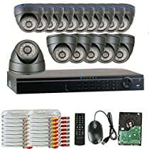 GW Security 16 Channel HD 1600TVL Outdoor / Indoor HD 960P Video Security Camera System with Pre-Installed 3TB HD, Quick QR Code Smartphone Access