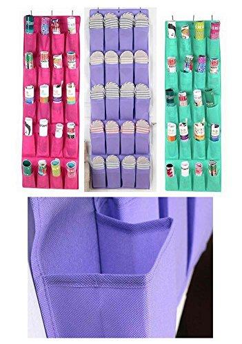 20 Taschen über die Tür Schuh-Organisatoren-hängenden Beutel, Rose