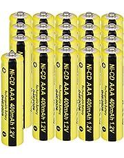Solar Battery NI-CD AAA Rechargeable Solar Batteries 1.2V 400mAh For Flashlights Remotes 20pcs
