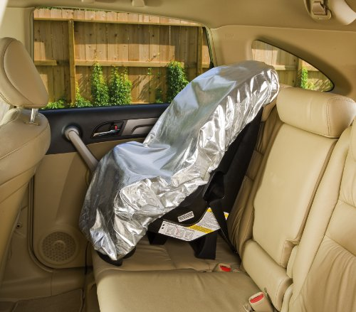 - Car Seat Sun Shade Cover - Keep Your Baby's Carseat at a Cooler Temperature - Covers and Blocks Out Heat & Sun - More Comfortable for Baby or Child - Protection from UV Sunlight - Mommy's Helper