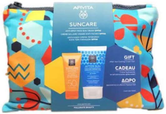 APIVITA SUNCARE Crema Facial Antimanchas SPF50 + Regalo Aftersun ...