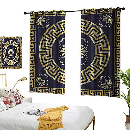 Superlucky Decorative Curtains for Living Room,Greek Key,63