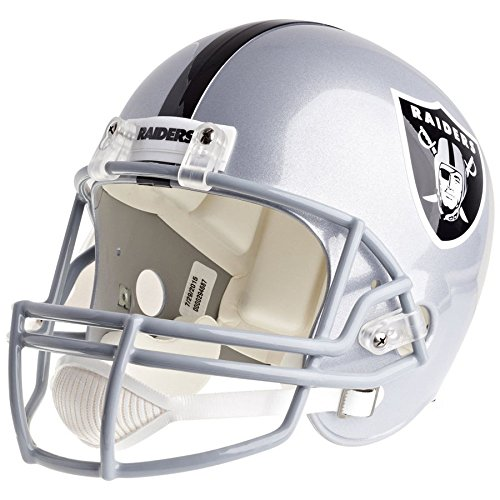cially Licensed VSR4 Full Size Replica Football Helmet (Oakland Raiders Logo Helmet)
