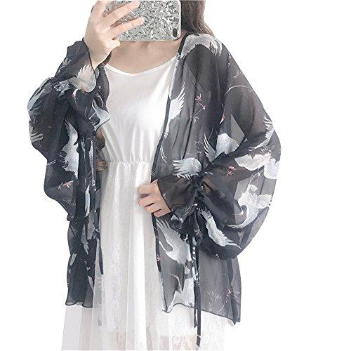 レディース カーディガン 薄手 シフォン 日焼け ビーチコート 冷房対策 UVカット ガウン ロング 花柄 羽織り レディース 薄手 紫外線 対策 透け感 ゆったり
