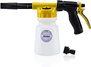 Foam Gun Car Wash Foam Sprayer Soap Foam Blaster, Adjustable Ratio Dial Foam Cannon for Cleaning with Quick Connector to Any Garden Hose (with Wash Mitt & Towel)