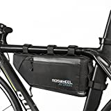 allnice Bike Frame Bag 3-4L Frame Pouch Waterproof Bike Storage Bag Mountain Road MTB Bicycle Triangle Bag Strap-on Bicycle Pouch