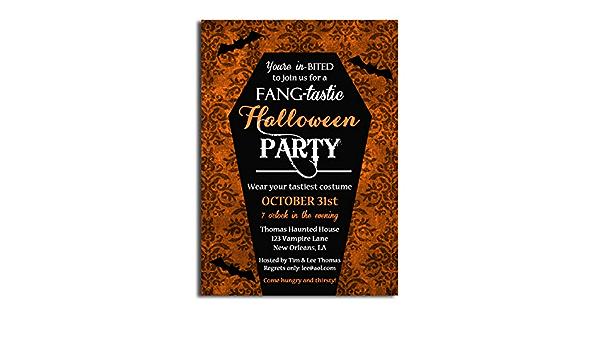 Invitations /À La prochaine Halloween Party de Edition Colibri/©/ Car impression climatiquement neutre /Respectueux de l/'environnement Lot de 12/cartes d/'invitation de Halloween /'Chauve-souris de vampire