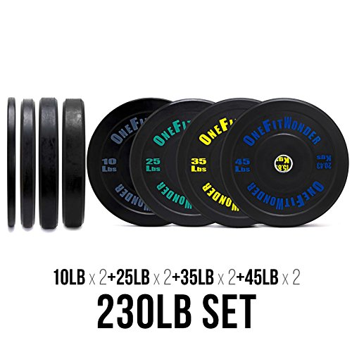 Contrast Lettering Bumper Plate Sets by OneFitWonder / Different Weight Pair Sets (230)