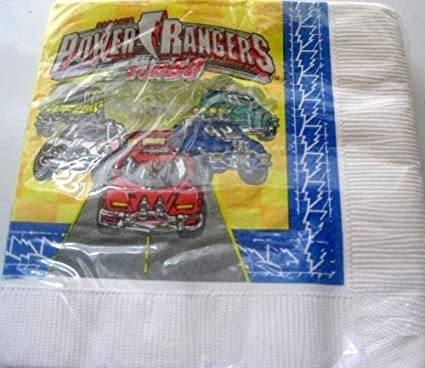 POWER RANGERS Party NAPKINS Cake Birthday Supplies x16 Turbo Decoration Favor