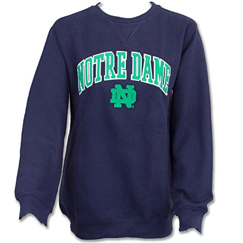 Notre Dame Fighting Irish Fleece Crew Sweatshirt Navy - (Notre Dame Fighting Irish Fleece)