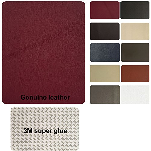TMgroup , leather couch patch, genuine faux leather repair patch , peel and stick for couch , sofas , car seats , hand bags ,furniture, jackets , large size 8-inch x 11-inch (Burgundy Self Adhesive)