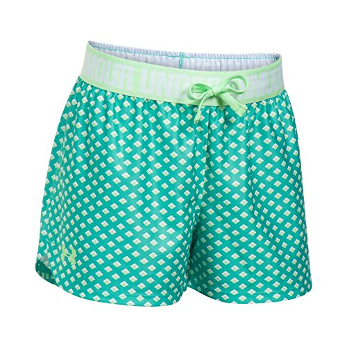 Under Armour Girls Play Up Printed Shorts, Absinthe Green/Summer Lime, Youth Large by Under Armour
