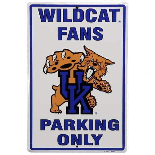 (University of Kentucky Wildcats Fans Parking Only NCAA Tin Sign)