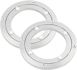 P Prettyia Set di 2 Piattaforma Girevole A 360 Gradi di Rotazione Girevole Cuscinetto A Sfere Piatti Girevoli in Alluminio per Tavolo da Pranzo